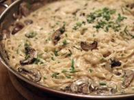 Fettuccine with White Truffle Butter and Mushrooms