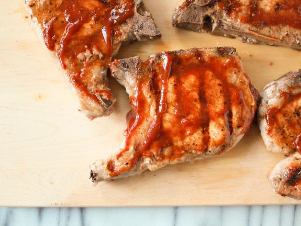 Spice-Rubbed Pork Chops with Sorghum BBQ Sauce