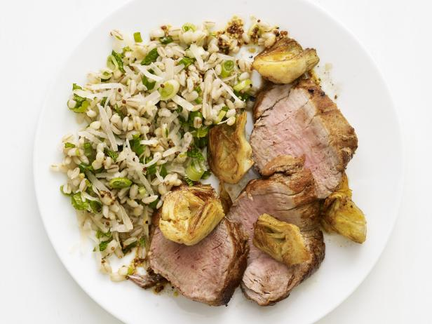 Roast Pork with Farro Salad