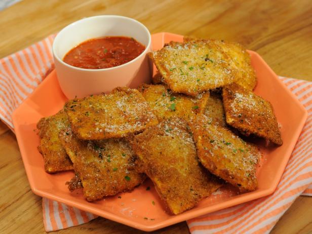 Toasted Ravioli Recipe Jeff Mauro Food Network