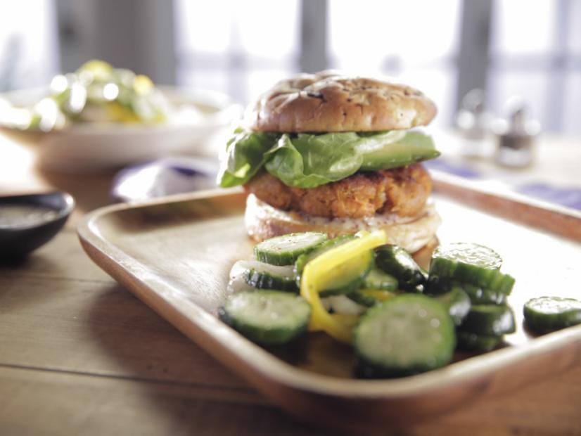 sweet pea burgers recipe trisha yearwood food network rh foodnetwork com