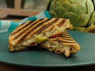 Artichoke and Spinach Dip Chicken Panini
