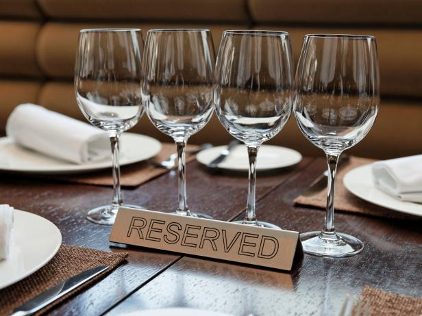 Reserved plate on an arranged table