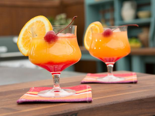 Tequila sunrise cocktail  Tequila Sunrise Recipe | Geoffrey Zakarian | Food Network
