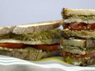 Grilled Chicken and Broccoli Pesto Panini