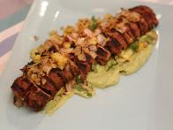 Grilled Pork Tenderloin al Pastor with Avocado Crema