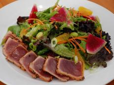 This beachside spot serves island-inspired bites like the Togarashi Ahi Tuna Salad. Curtis Stone loves this dish, which stars wild tuna coated in a Japanese seven-spice mix that includes paprika and orange zest. The fish is seared, then served with mixed greens and fresh add-ins like creamy avocado.