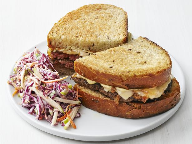 Patty Melts with Apple Slaw