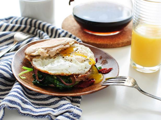 One Recipe, Two Meals: Cheesy Breakfast Sandwich Edition (for You and for the Kids)