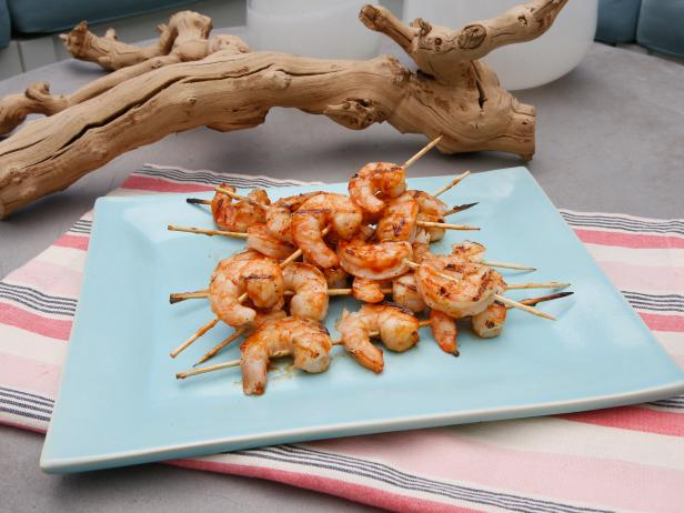 Sunny's Grilled Shrimp with Sunny's 1-2-3 BBQ Sauce