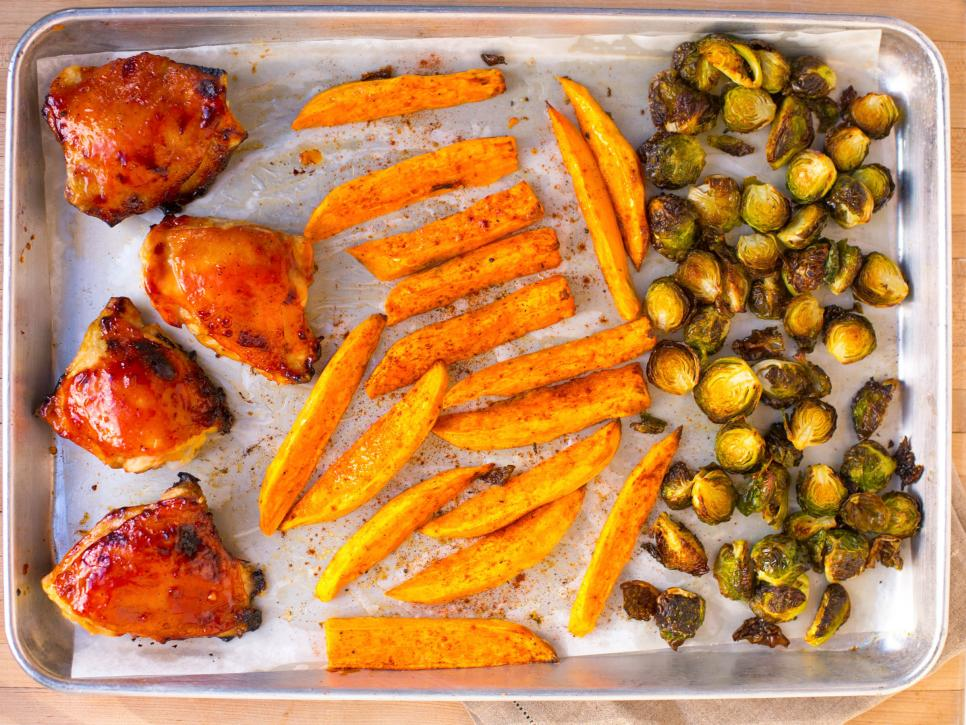 Sheet pan dinner ideas food network recipes dinners and easy kielbasa and sauerkraut forumfinder