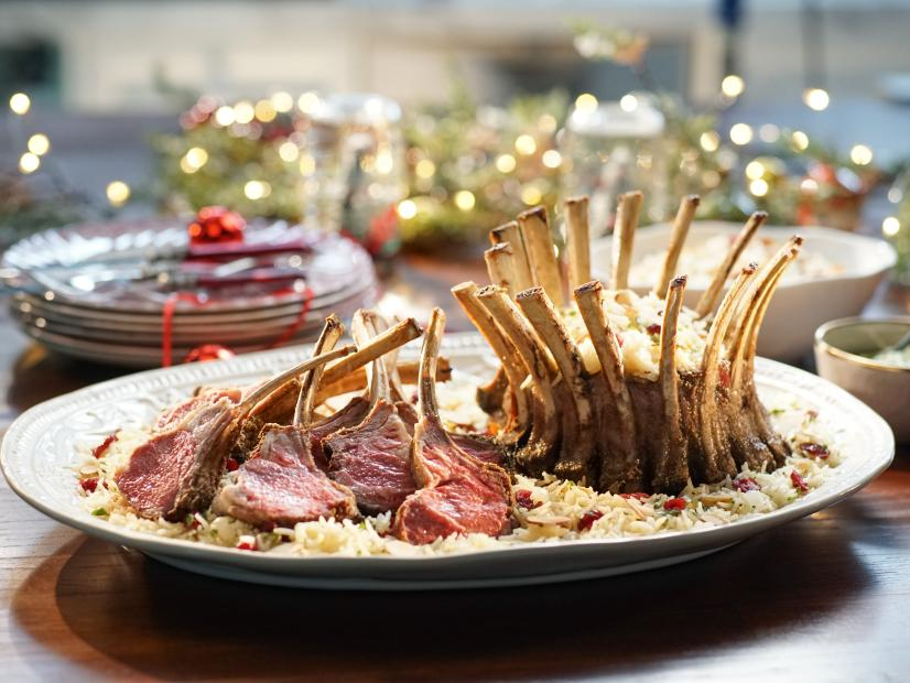 Crown roast of lamb with mint and green onion pesto recipe valerie crown roast of lamb with mint and green onion pesto recipe valerie bertinelli food network forumfinder Gallery