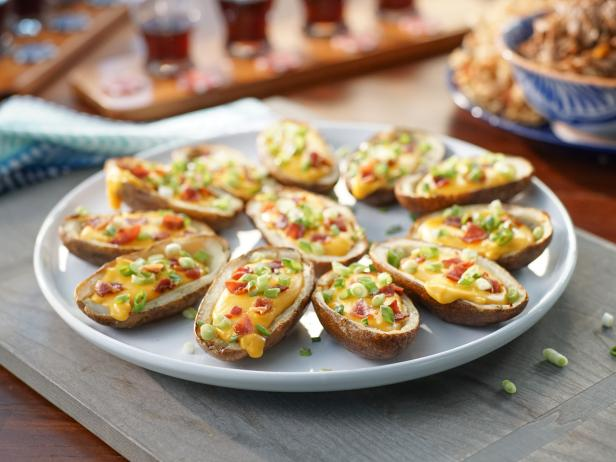 Potato Skins With Beer Cheese Recipe Valerie Bertinelli Food Network