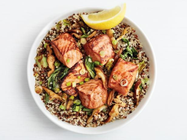 Teriyaki salmon quinoa bowls recipe food network kitchen food teriyaki salmon quinoa bowls forumfinder