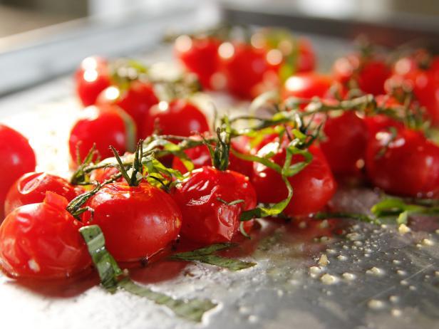 Roasted vine tomatoes recipe ina garten food network roasted vine tomatoes ccuart Images