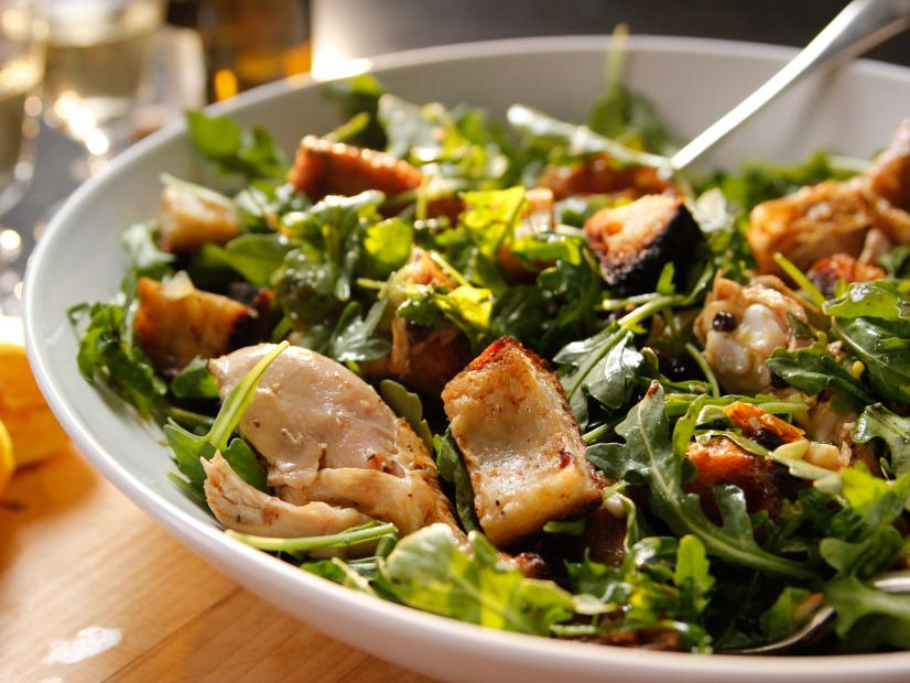 Roast Chicken With Bread And Arugula Salad Recipe Ina Garten