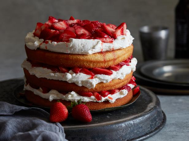 Red Ale and Strawberry Stack Cake