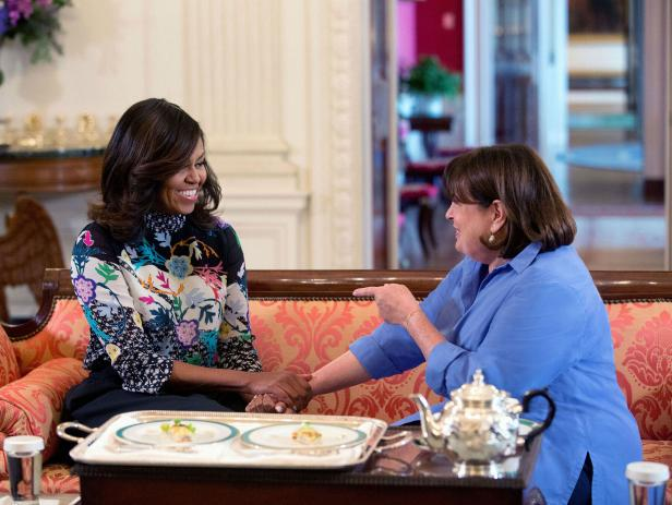 Host Of The Food Network S Program Barefoot Contessa Pare In A Conversation Regarding Let Move Initiative And White House Kitchen