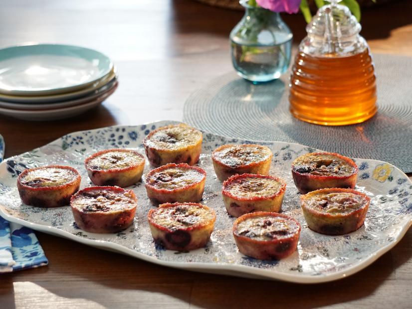 Banana Cherry Custard Muffins Recipe Valerie Bertinelli Food Network