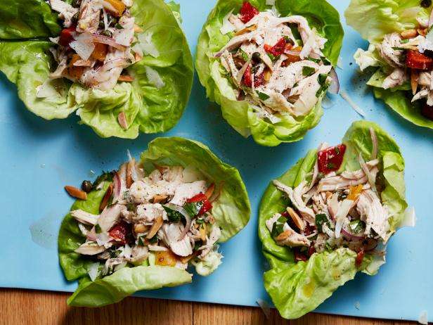 Italian Chicken Salad in Lettuce Cups