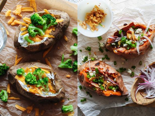 One Recipe, Two Meals: An Easy Baked Potato Bar