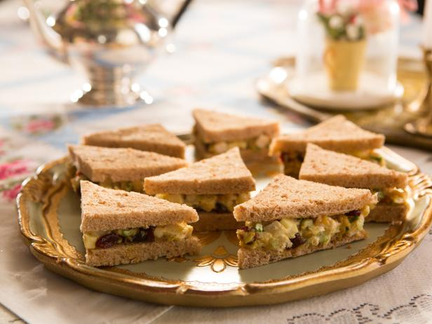 Curried chicken salad tea sandwiches recipe food network curried chicken salad tea sandwiches forumfinder Image collections