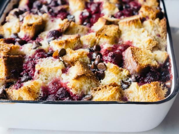 Raspberry Chocolate Bread Pudding