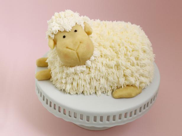 Groovy Easter Lamb Cake Recipe Alana Jones Mann Food Network Funny Birthday Cards Online Benoljebrpdamsfinfo