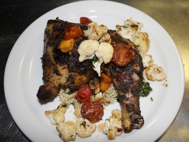Roasted jerk chicken with garden chimichurri recipe robert irvine roasted jerk chicken with garden chimichurri forumfinder Gallery
