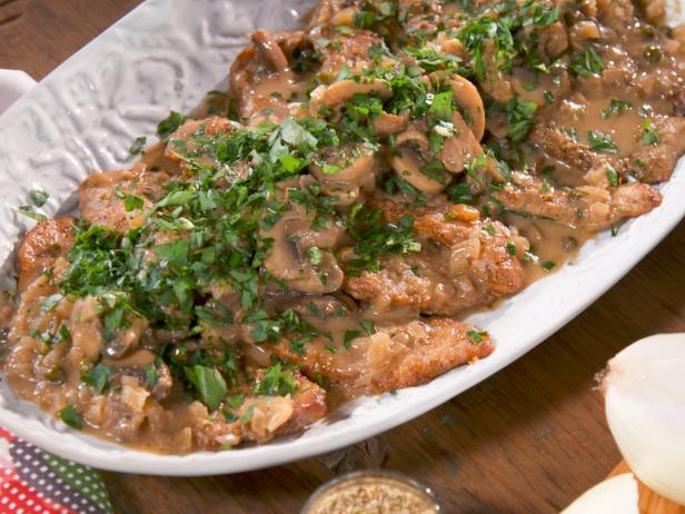 Veal scaloppine with mushroom marsala sauce recipe nancy fuller farmhouse veal scallopini 0230 forumfinder Choice Image