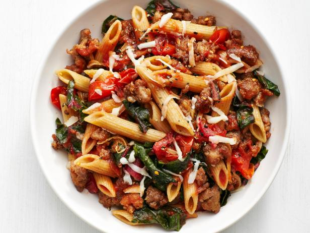 Whole-Wheat Pasta with Sausage and Swiss Chard