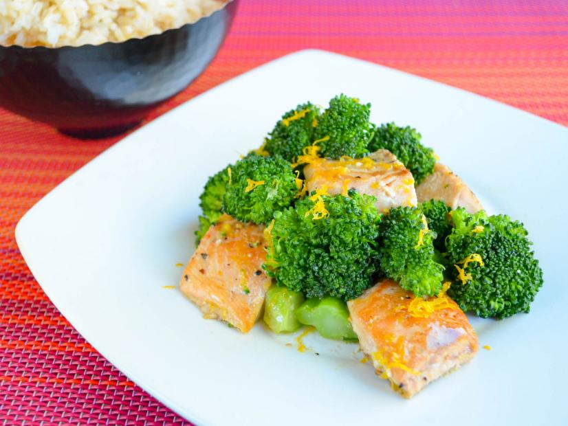 5-Ingredient Salmon and Broccoli Stir-Fry