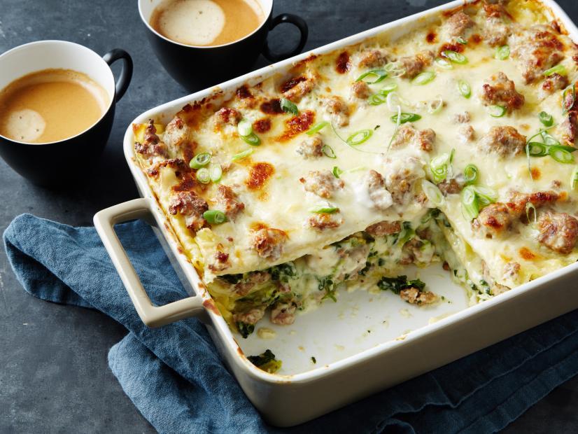 Sausage gravy breakfast lasagna recipe food network kitchen food watch forumfinder Image collections