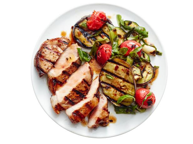 Grilled Pork and Ratatouille