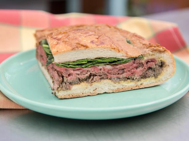 Ultimate Steak and Mushroom Shooter Sandwich