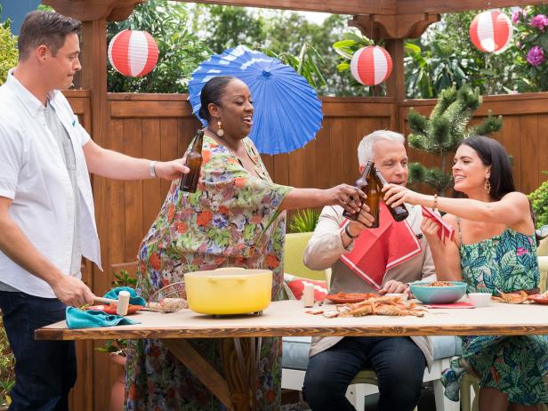 The Kitchen Cast Summer Party