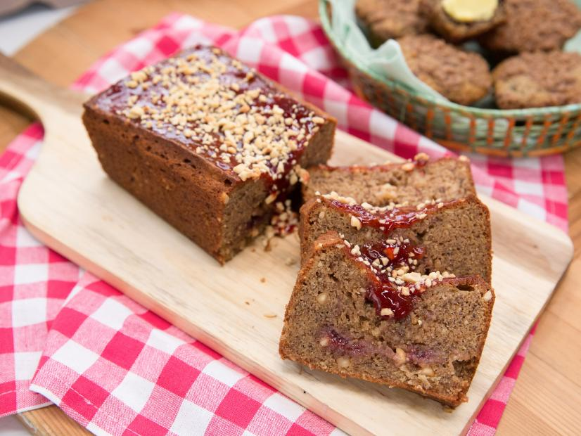 Peanut butter and jelly banana bread recipe food network watch forumfinder Image collections