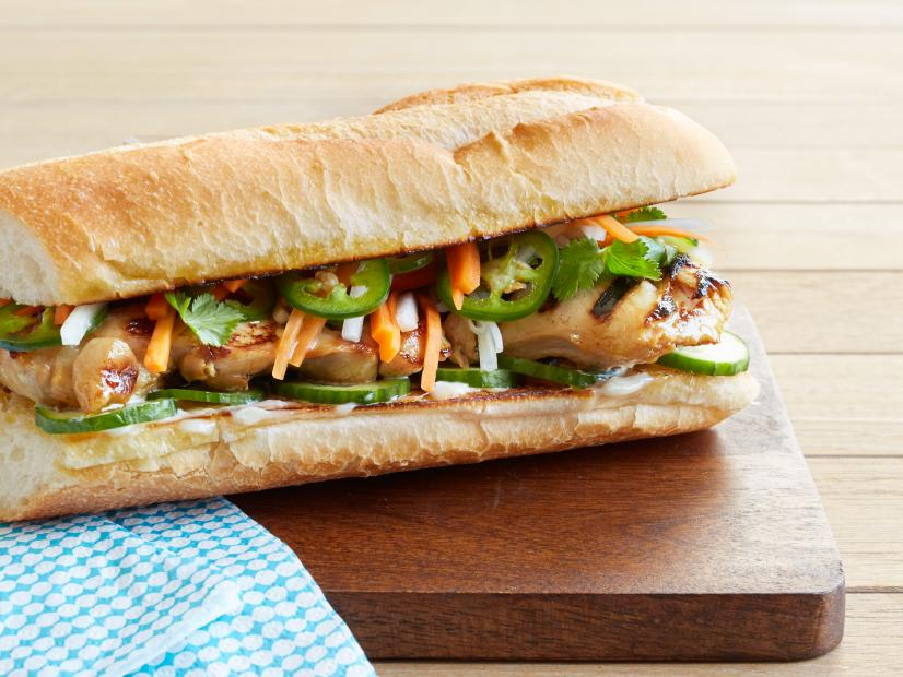 Grilled Vietnamese Chicken Sandwiches Recipe Food Network Kitchen Food Network