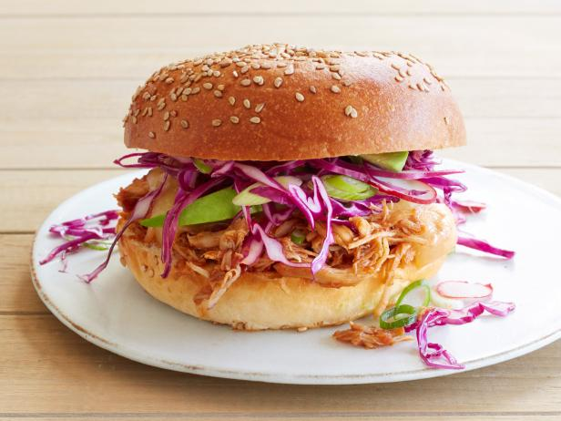 Slow-Cooker Mexican Barbecue Chicken Sandwiches
