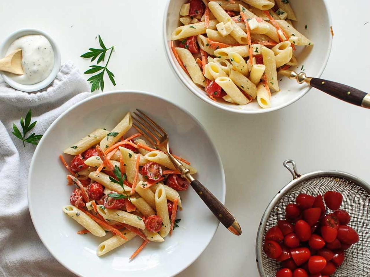 one recipe two meals summery pasta salad fn dish behind the