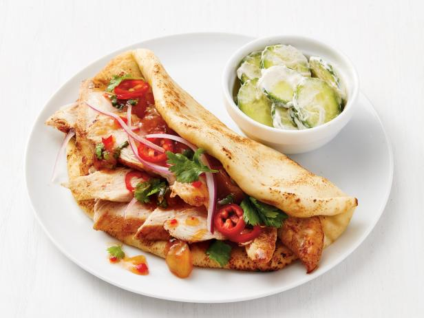 Indian chicken tacos recipe food network kitchen food network indian chicken tacos forumfinder Choice Image