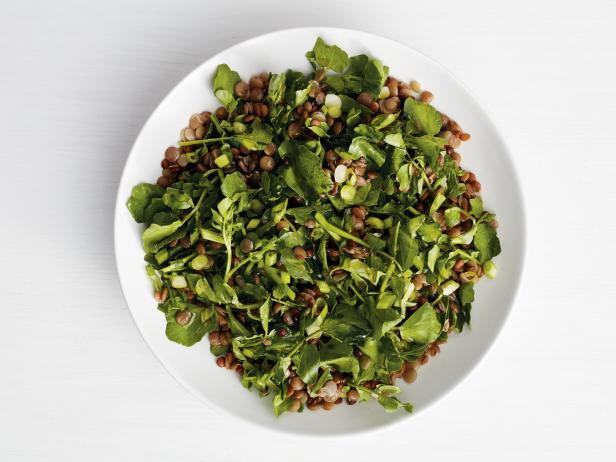Lentils with Watercress