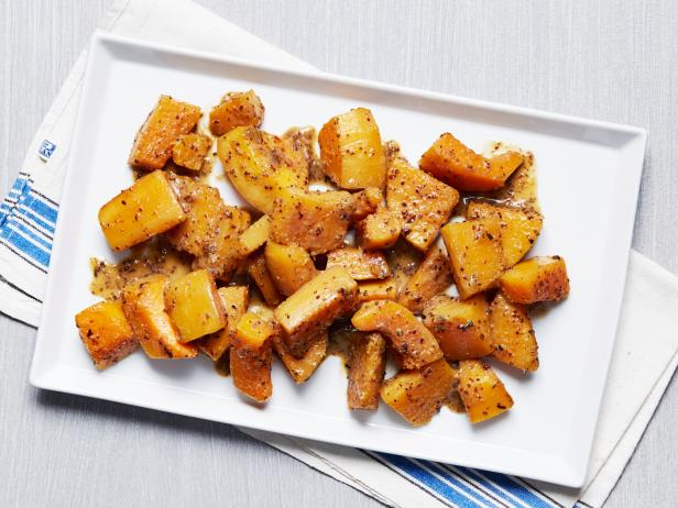 Maple and Mustard Glazed Butternut Squash