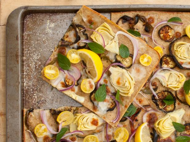Greek Pizza with Pourable Crust