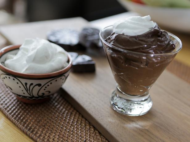 Mexican Chocolate-Avocado Mousse with Mezcal Whipped Cream