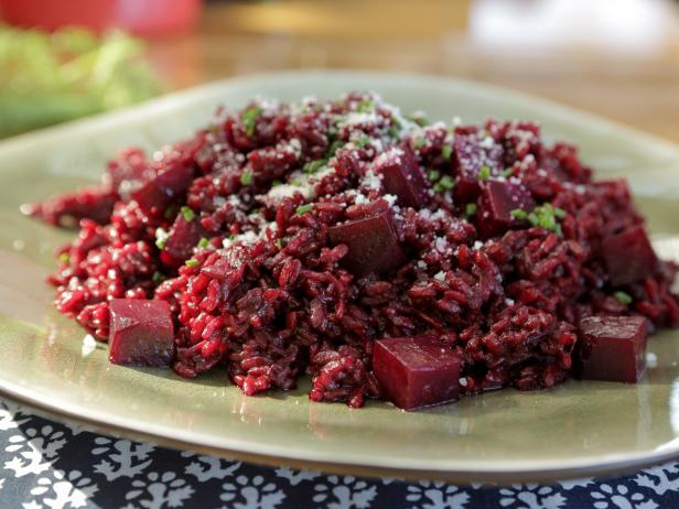 Beet Risotto with Pecorino