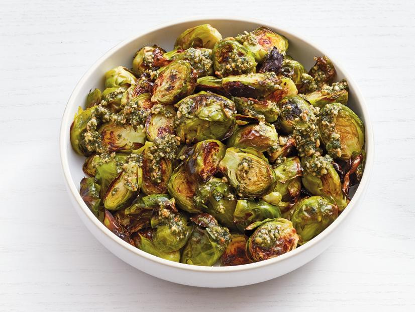 Roasted brussels sprouts with mint pesto recipe food network roasted brussels sprouts with mint pesto recipe food network kitchen food network forumfinder Gallery