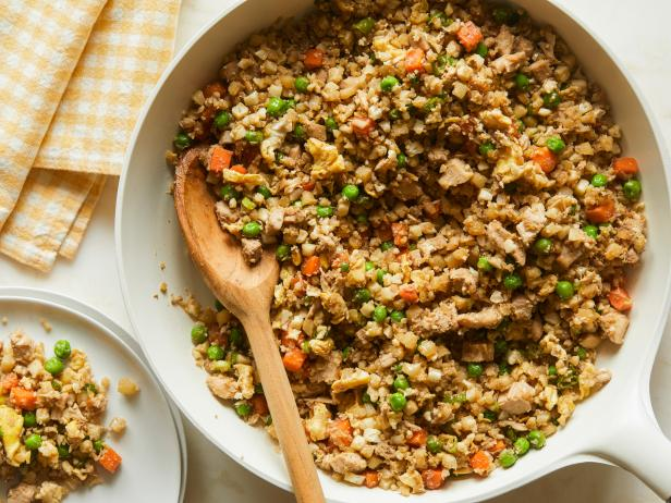 Chicken cauliflower fried rice recipe katie lee food network chicken cauliflower fried rice forumfinder Images