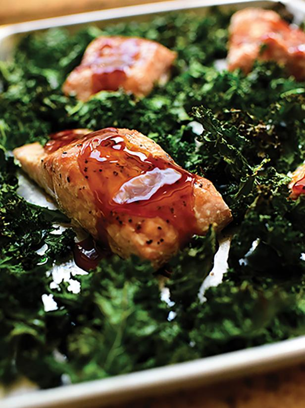 Teriyaki Salmon And Kale Sheet Pan Supper Recipe Ree