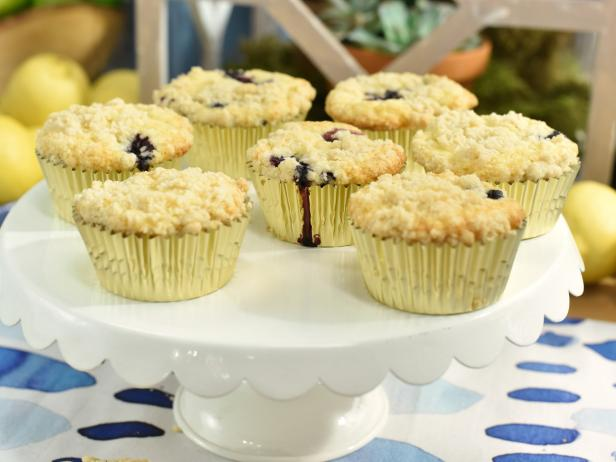 Lemon Blues Muffins with Crumble Topping